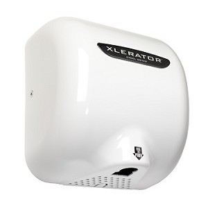Excel Dryer XLERATOR Hand Dryer XL-BW, White Thermoset Resin (BMC) Cover, Automatic Sensor, Surface Mounted, LEED Credits, GreenSpec Listed, Commercial Hand Dryer