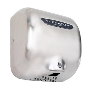 Excel Dryer XLERATOR Hand Dryer XL-SB, Stainless Steel Cover - Brushed, Automatic Sensor, Surface Mounted, LEED Credits, GreenSpec Listed, Commercial Hand Dryer